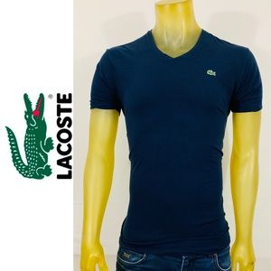 Lacoste Stretch Performance Cotton V-Neck Shirt